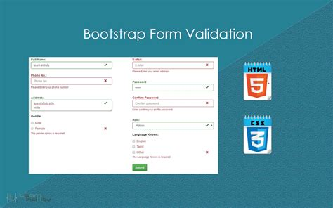 tutorial bootstrap form validation bootstrap form validations gallery form exle ideas