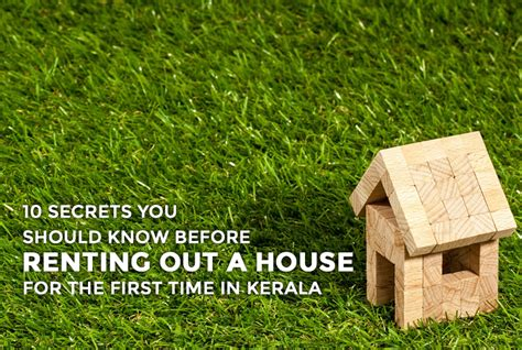renting out a house checklist for renting out a house for the first time in kerala