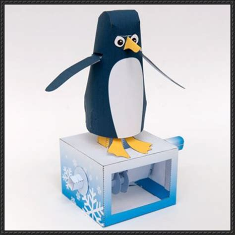 Automata Papercraft - papercraftsquare new paper craft automata penguin
