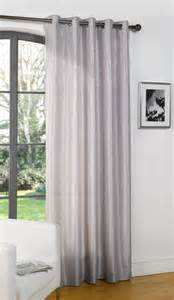Door Panels Curtains Glamour Eyelet Voile Panel Silver Free Uk Delivery