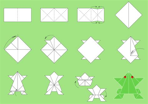 Steps To Make Paper Crafts - origami paper folding step by step easy origami