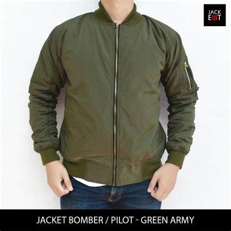Jaket Pilot Bombers Harian Anti Air Tahan Angin M Sd jual jaket motor harian pilot bomber hijau army tahan angin air service