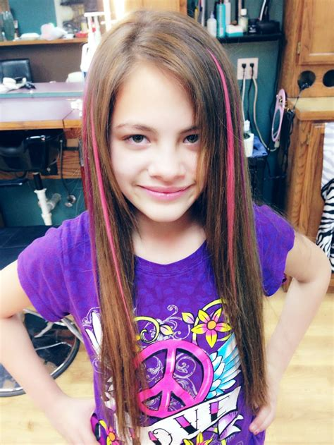 colored extensions kid hair colored extensions glued in salon ideas