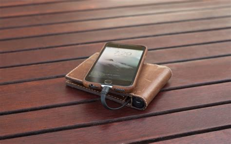 Built Ny Electric Charger Bag by This Leather Wallet Has A Built In Battery To Charge Your