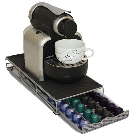48 pod nespresso coffee capsule holder storage dispenser
