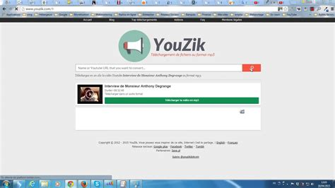 download from youtube in mp3 format convertir une vid 233 o youtube au format mp3 via youzik com