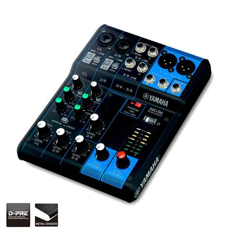 vivace yamaha mg06 analog mixer