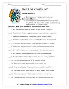 worksheet on simple compound and complex sentences