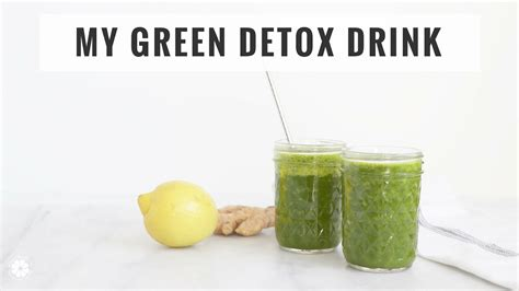 Daily Detox Smoothie by My Daily Green Drink Easy Detox Juice Smoothie