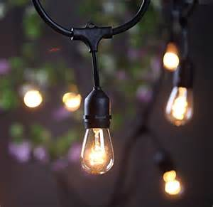 outdoor hanging string lights outdoor commercial string lights amlight 24 ft heavy duty