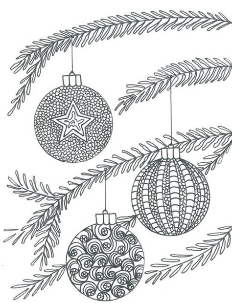 colouring pages christmas baubles christmas baubles adult coloring page