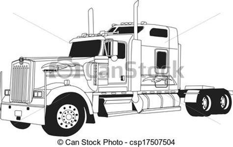 kenwood t660 clipart vecteur de kenworth camion ligne dessin 233
