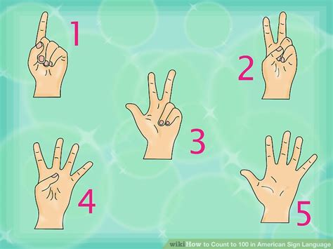 asl numbers 1 100 printable how to count to 100 in american sign language 13 steps