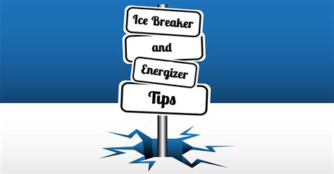 ice breaker and energizer infographic