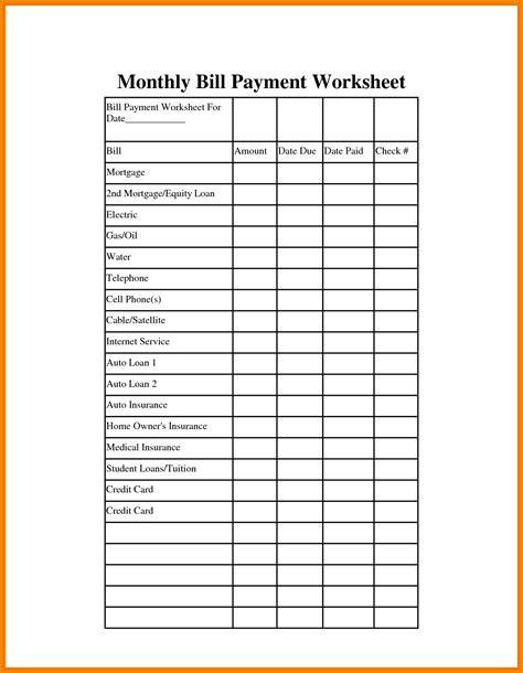 Bill Payment Spreadsheet Excel Templates   LAOBINGKAISUO.COM