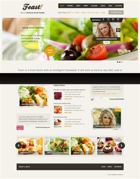 themes wordpress free food feast food wordpress theme by themeforest free
