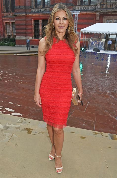 Elizabeth Hurley In Hello Magazine And Also Another Wedding Dress by Elizabeth Hurley Turns Heads At The Studded V A