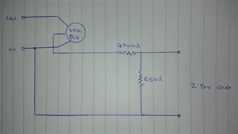 use a resistor to lower voltage voltage regulator how to reduce 24v to 0 2 5v through a pot electrical engineering stack
