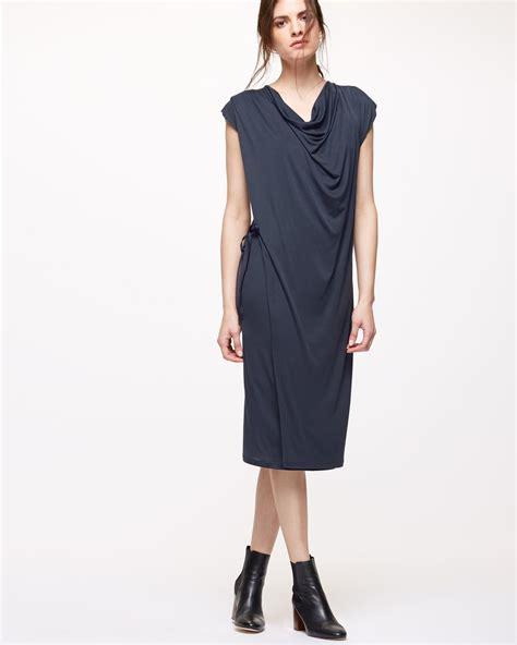 jigsaw design clothes jigsaw cap sleeve cowlneck dress in blue lyst