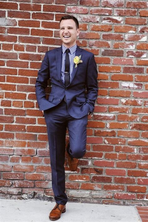 blue suit patterned shirt groom style upstyle with a patterned shirt man cave
