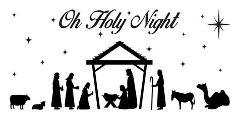 christmas holiday stencil nativity oh holy night for