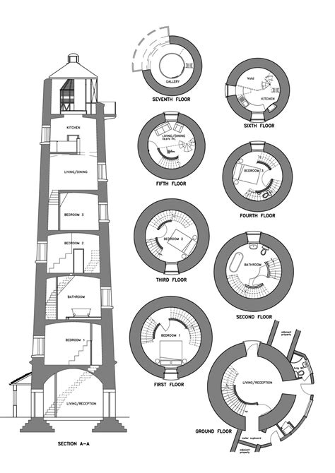 lighthouse floor plans kittees lighthouse plan tyree house plans building