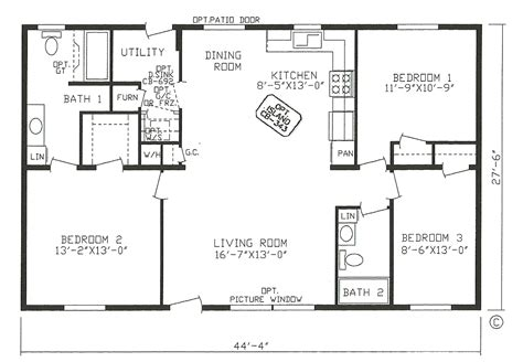 2 bedroom open floor plans floor plans for bedroom ranch homes ideas with 3 rambler