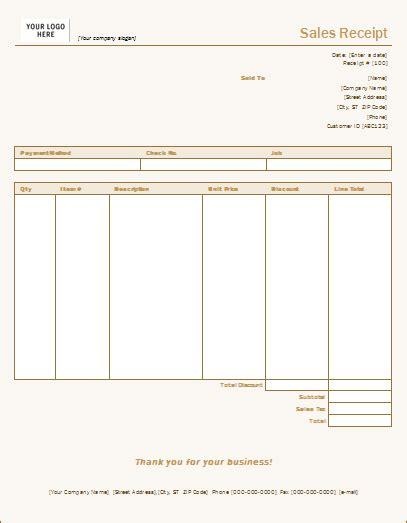 sales slip template sales receipt