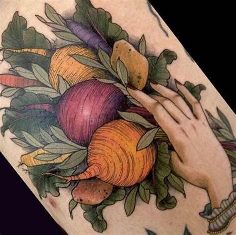 vegetable tattoo pinterest vegetables great tattoo work pinterest