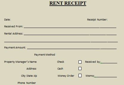 money rent receipt template rent receipt template 10 free word excel templates