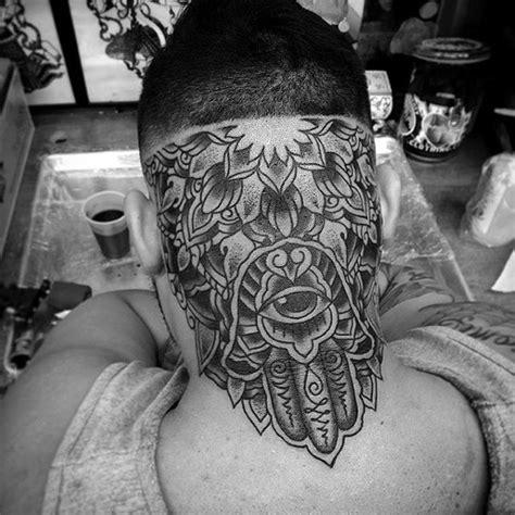 tattoo back of head 80 hamsa tattoo designs for men evil eye ink ideas