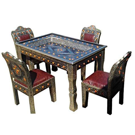 Chaise Marocaine by Table Marocaine D 233 Cor 233 E De M 233 Tal Et Chaises En Cuir