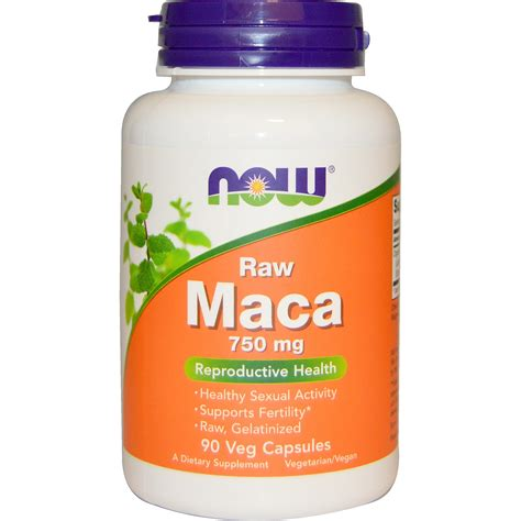 best maca now foods maca 750 mg 90 veg caps iherb