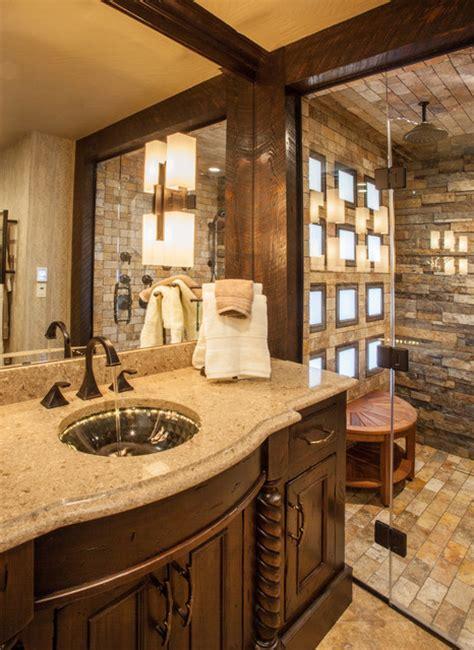rustic spa bathroom rustic elegance master bath rustic bathroom other