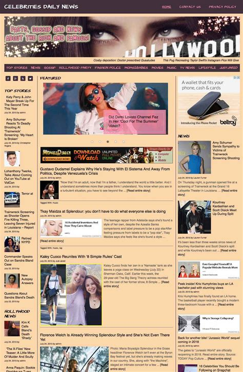 celebrities news aggregator ahead hosting