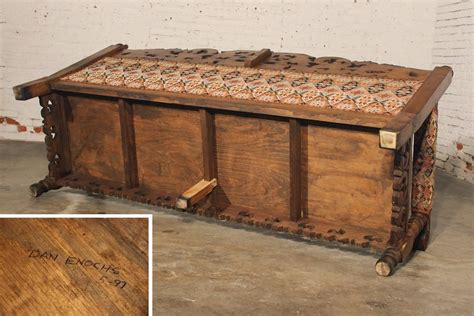 mexican bench hacienda style spanish or mexican carved pine and