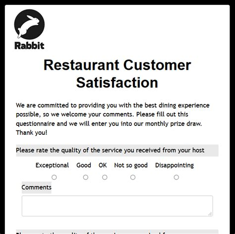 customer satisfaction survey email template formwize exles
