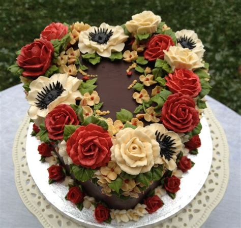 Flower Garden Cake Cake Decorating 19 Best Arty Cakes Buttercream Floral Cakes Images On Pinterest