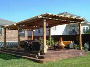 patio cover pergola columns fan