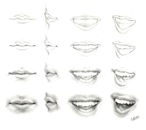how to draw mouths klaine fanart drawing tutorial