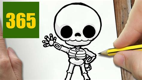 fotos de calaveras kawaii comment dessiner squelette kawaii 201 tape par 201 tape