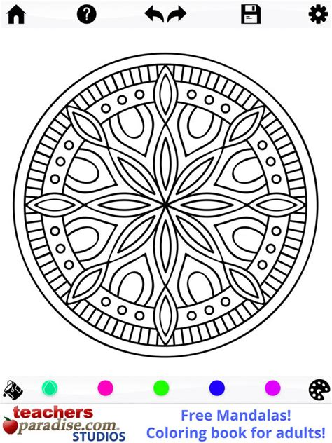 mandala coloring book app app shopper mandalas coloring book