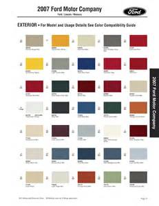 Ford Paint Paint Chips 2007 Ford