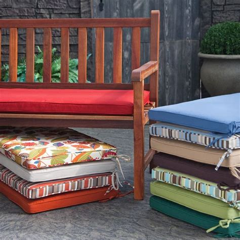 diy outdoor bench cushion outdoor cushions for diy bench sewing pinterest