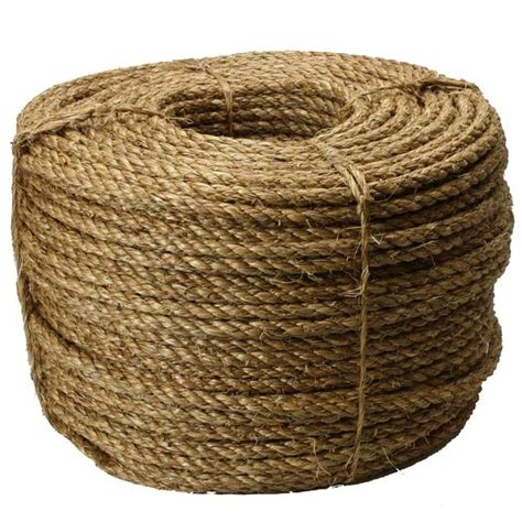 Hemp Rope Tali Rami 3 8 quot twisted manila rope 600