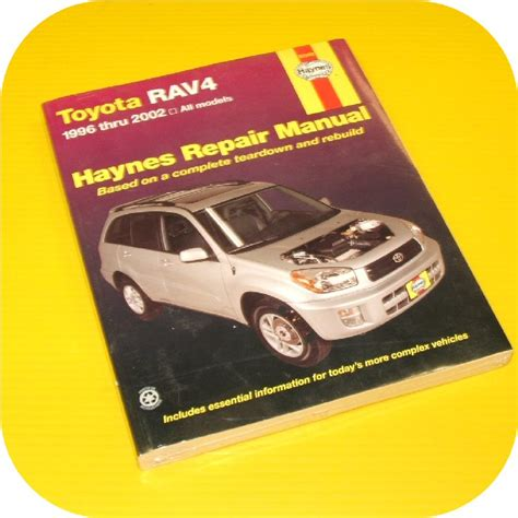 repair manual book toyota rav4 rav 4 96 02 owners new ebay