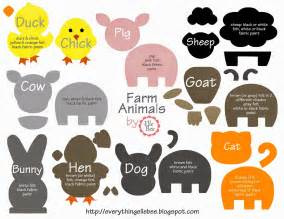 felt board templates a bit of everything free printable farm animal