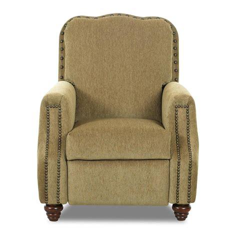 high leg recliner klaussner high leg recliners gabby high leg recliner with