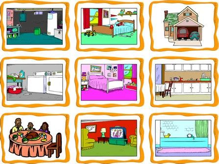 rooms of a house rooms in a house flashcards esl flashcards