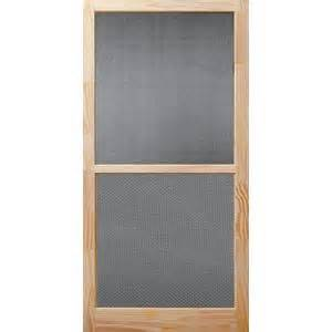 screen doors home depot bay 32 in x 80 in century unfinished wood